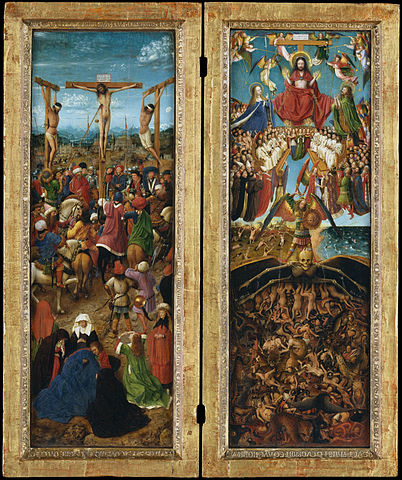 The Crucifixion and the Last Judgement Diptych by van Eyck