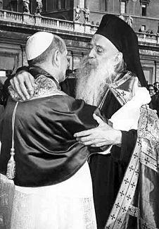 保祿六世及雅期納歌拉於1967年10月28日的相聚。