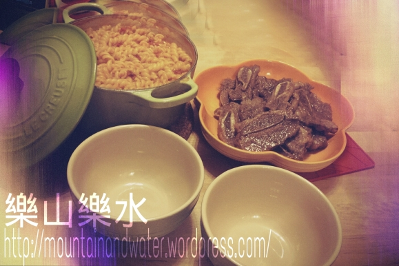 快熟蕃茄意粉+韓式牛仔骨