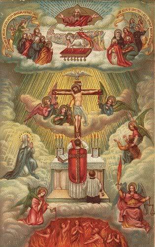 這傳統聖相就在畫出彌撒就是十字架祭獻的重現 (re-presentation)