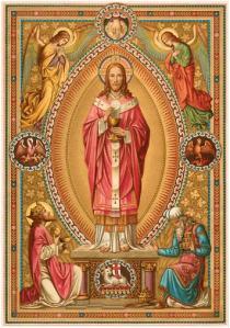 張心銳神父晉鐸紀念咭的畫像
