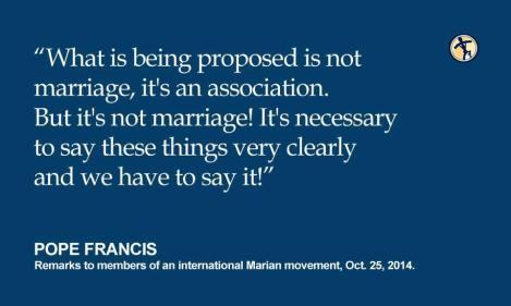 popefrancisbutitsnotmarriage