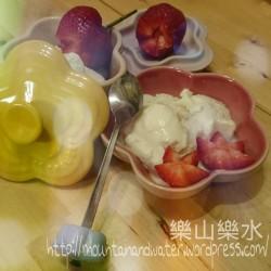 分享煮意:超簡易蘋果乳酪雪葩