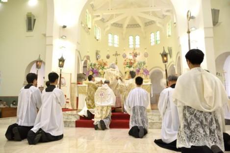 2015年4月14日陳日君樞機主持主教隆重大禮彌撒