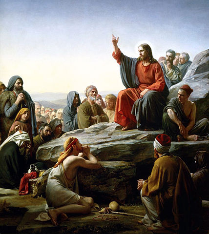 Sermon on the mount, by Carl Bloch (1877)