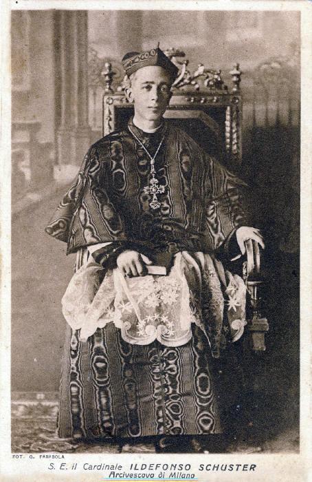 真福舒斯特樞機,米蘭主教