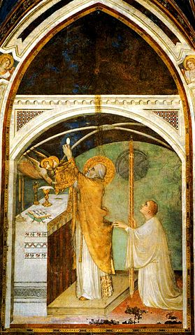 Life of St. Martin of Tours - Elevation(Painting by Simone Martini 1322-26)