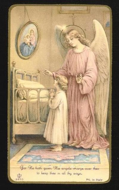 守護天使是我們的同行者,我們要呼喚他們,請他提點我們多祈禱。(來源:rectaratio.blogspot.com)