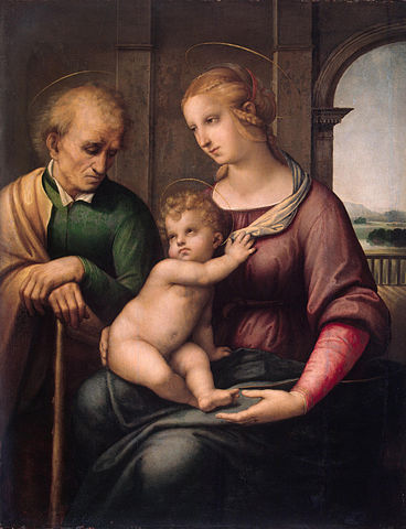 Madonna with Beardless St Joseph (Painting by Raphael, 1506)