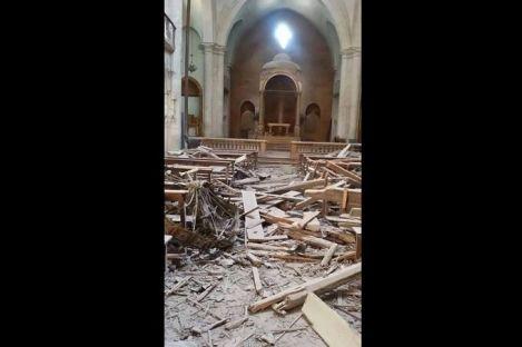 在埃頗教區另一所被毁的聖堂 (CNA/ACN Photo)