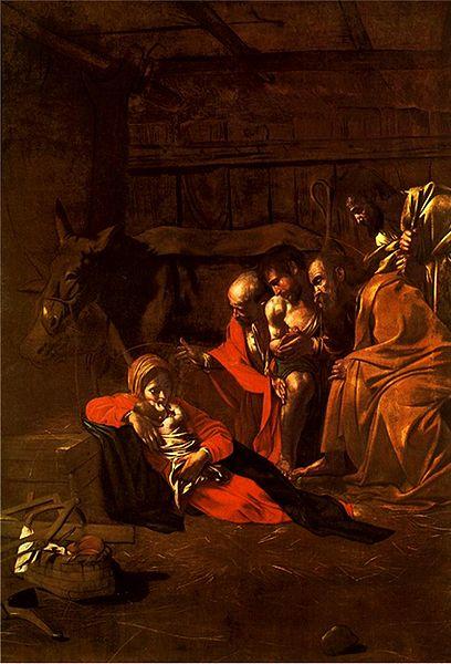 408px-Caravaggio_-_Adorazione_dei_pastori
