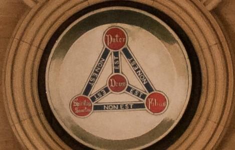 愛爾蘭都柏林的基督主教座堂天花(圖: 維基百科)