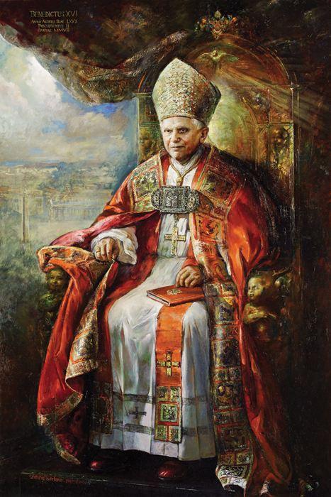 PopeBenedictXVI_portrait-NataliaTsarkova