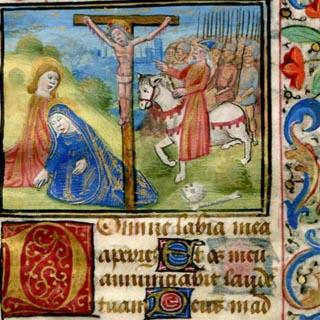 00138_illuminated-manuscript-decorated-leaf-crucifixion-scene