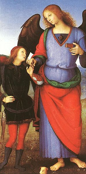 298px-Pietro_Perugino_-_Tobias_with_the_Angel_Raphael_-_WGA17352