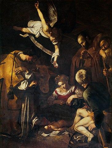 364px-Caravaggio-Nativity(1600)