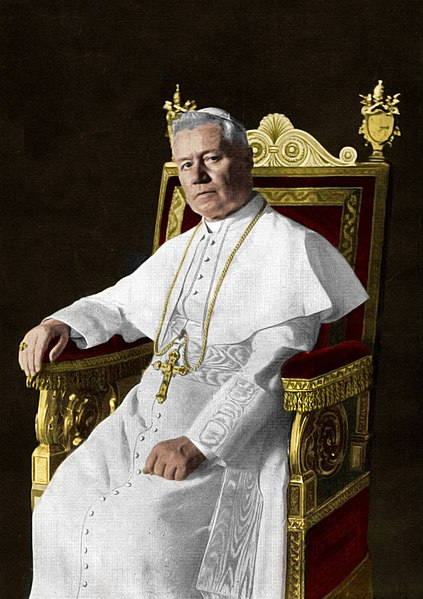 423px-Portrait_of_Pope_St._Pius_X_(Colored)